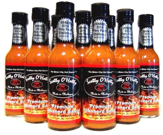 Premium Habanero Sauce 'HOT' (Case - 12 Bottles)